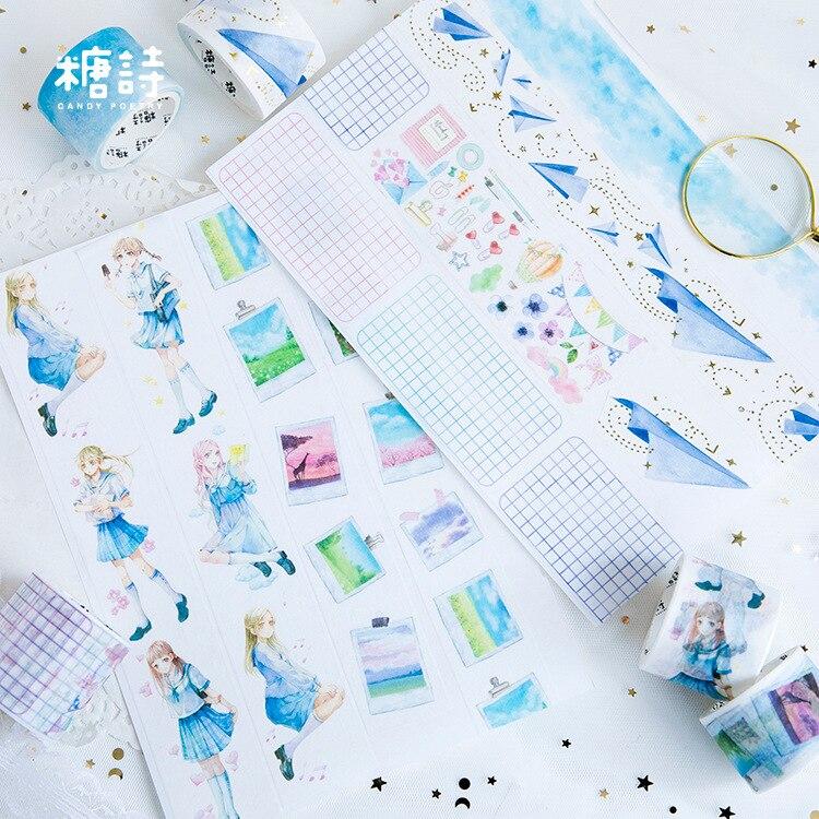 Maiden Sailor Washi Tape Adhesive Tape DIY Scrapbooking Sticker Label Masking Tape