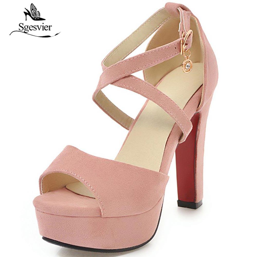 Nuevo Oficina Correa 43 Punta rosado Sandalias Mujer negro Grueso Ox364 Tacón Verano 32 Abierta Plataforma Tobillo Alto rojo Beige Señora Sgesvier Zapatos Tamaño De Elegante gris d8fxHqZq