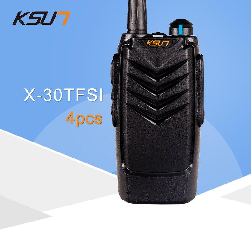 (4 pièces) KSUN X-30TFSI Radio bidirectionnelle Portable Radio UHF 400-470 MHz Radio à jambon BUXUN X30 talkie-walkie