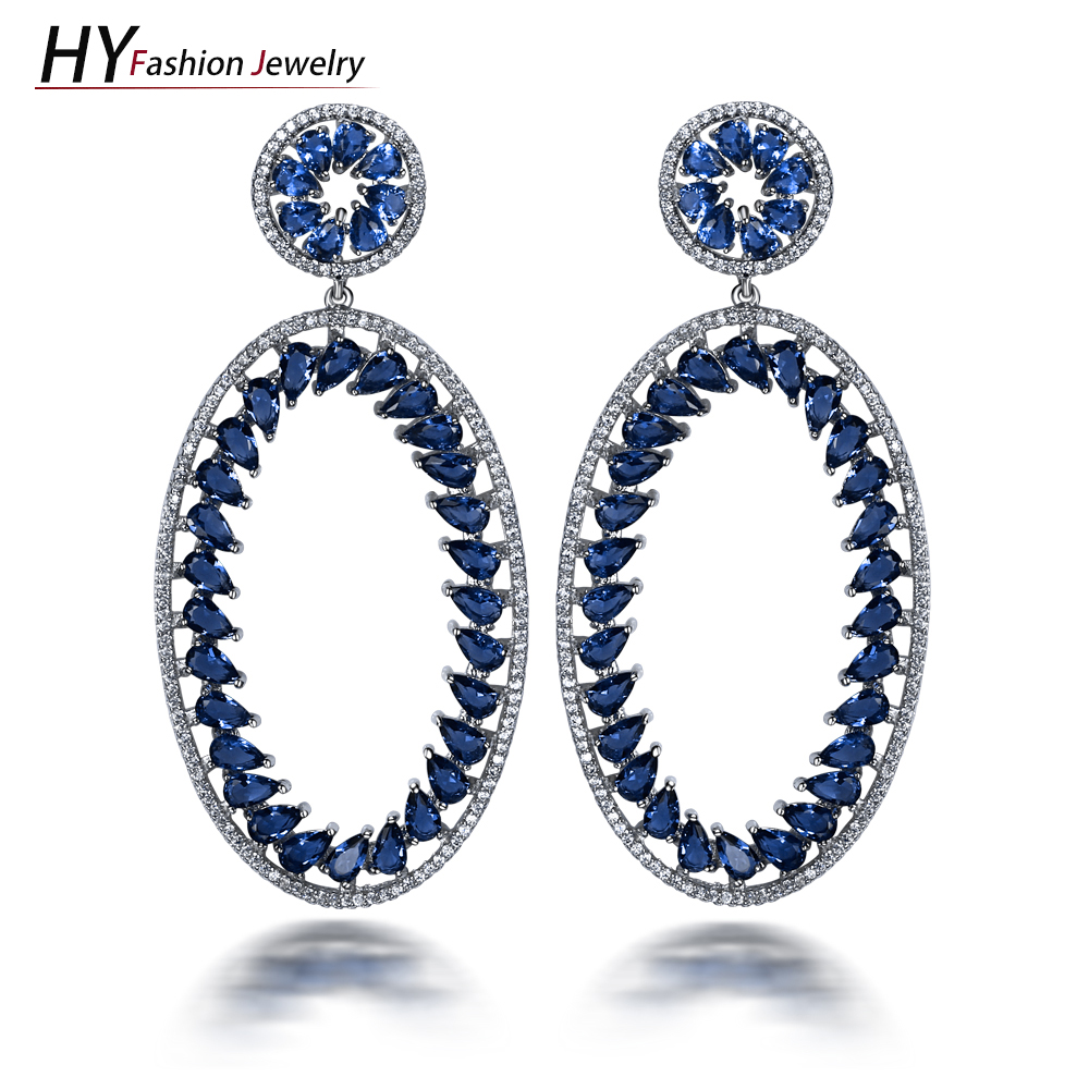 shape diamond oval classical gb earrings
