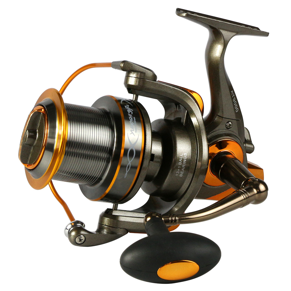 Full metal spool AT8000/9000 series trolling long shot casting for carp and salt water surf spinning big sea fishing reel yumoshi 10000 size metal spool jigging trolling long shot casting for carp and salt water surf spinning big sea fishing reel