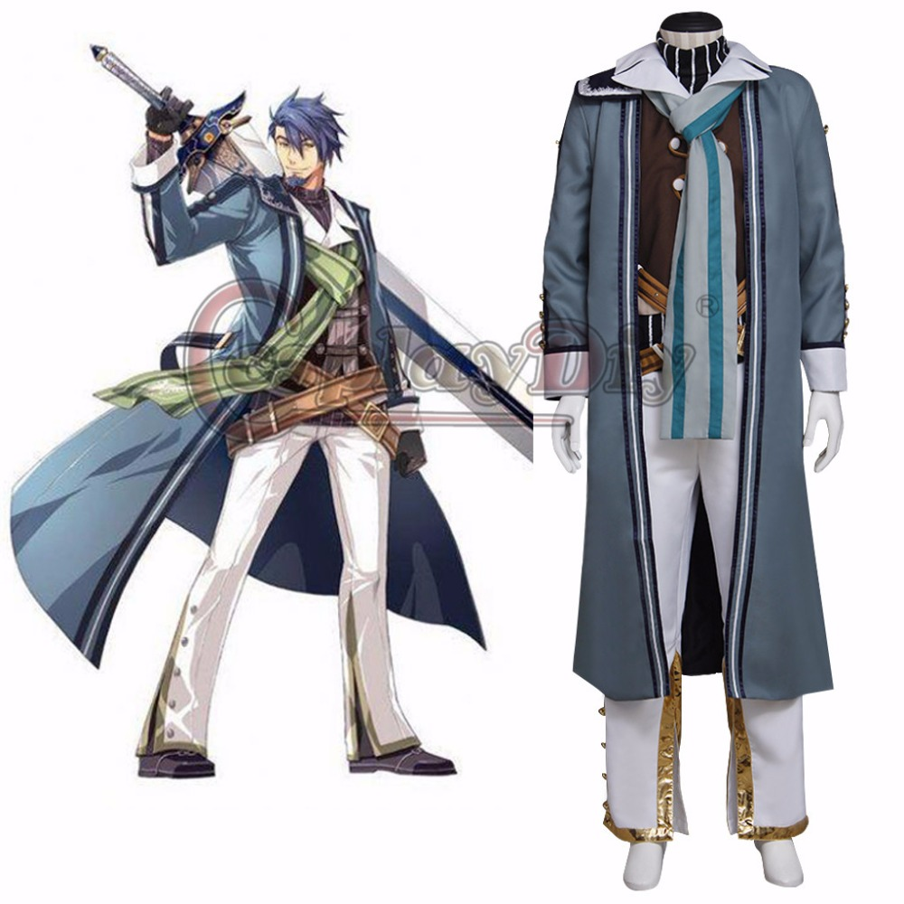 Cosplaydiy The Legend of Heroes: Sen no Kiseki II Victor S Arseid Cosplay Costume Adult Halloween Carnival Outfit Custom Made
