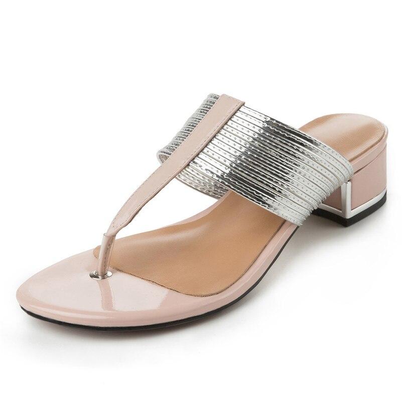 2019 брендовая качественная роскошная женская обувь из натуральной кожи на плоской платформе женские повседневные вечерние летние сандалии ... - 2