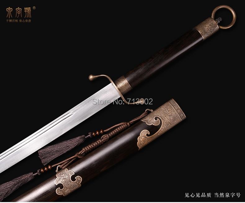 Ручная работа WUSHU Broadsword DA DAO* меч для китайского кунг-фу складное стальное лезвие меч-дракон