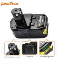 Batería recargable Powtree 18 V 6000 mAh Li-Ion P108 P 108 para batería RB18L40 P2000 P310 para BIW180 L30