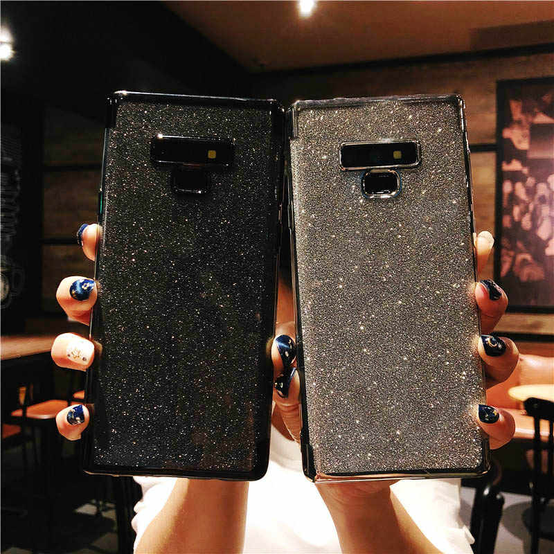 Glitter Case For Samsung Galaxy Note 10 9 8 S10 5G S10E S9 S8 Plus A10 A20 A20E A30 A40 A50 A60 A70 Cover TPU Soft Phone Cases