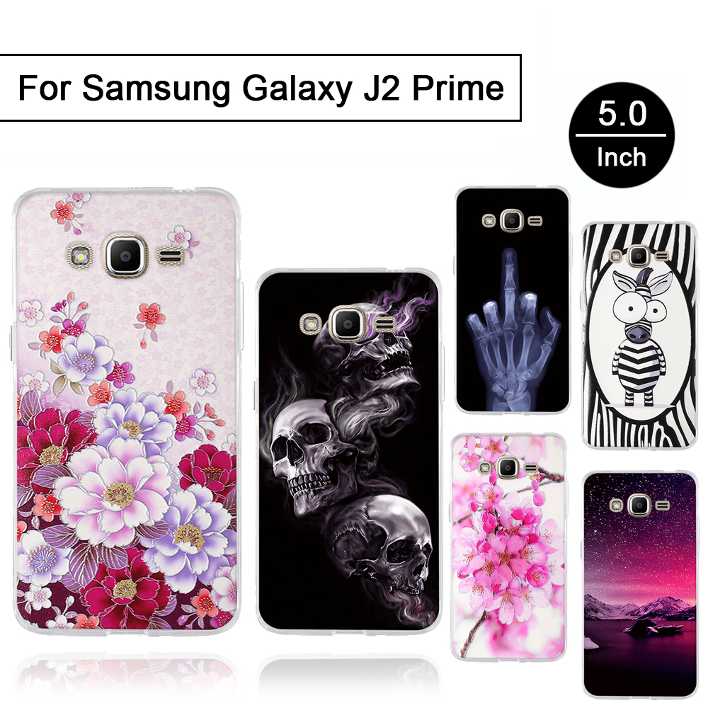 3D Relief Case For Samsung Galaxy J2 Prime G532 Back Phone Cover For Samsung Galaxy Grand Prime Plus 5.0 inch Soft TPU Cases New