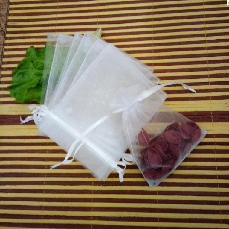 11sizes 1000pcs 7x9 9x12 10x15cm White Organza Bags Jewelry Gift Packaging Drawstring Bags Apply to Wedding