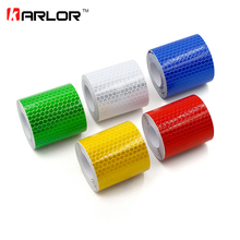 Reflective Tape 5*300cm Car Styling Safety Warning Material Motorcycle Cycling Car Stickers For Renault Ford Toyota Bmw Vw Lada