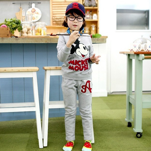 Children wear warm cotton terry sport suit home furnishing for Style at home special offer