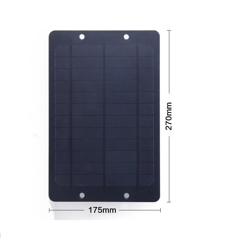 BUHESHUI Universal 6V 6W Monocrystalline Solar Cell With Junction Box For Bike Share DC System Public Rental Bicycle Solar Panel