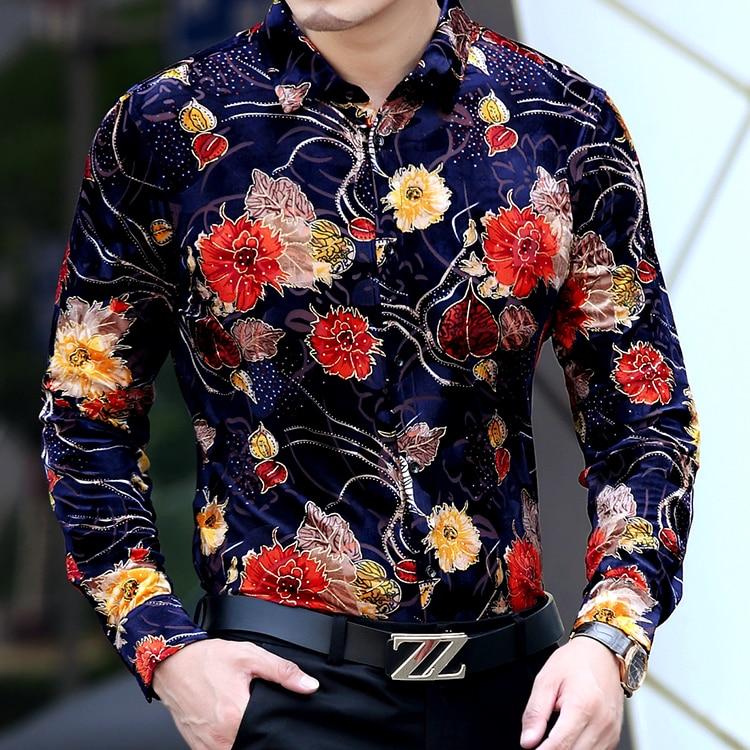 Aliexpress.com : Buy New 2017 Flower Shirt Men Floral Printed ...