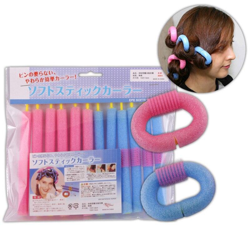 12Pcs/Lot Soft Foam Hair Curler Roller Bendy Rollers DIY Magic Sleeping Hair Curlers Styling Rollers Sponge Hair Curling Tool 2