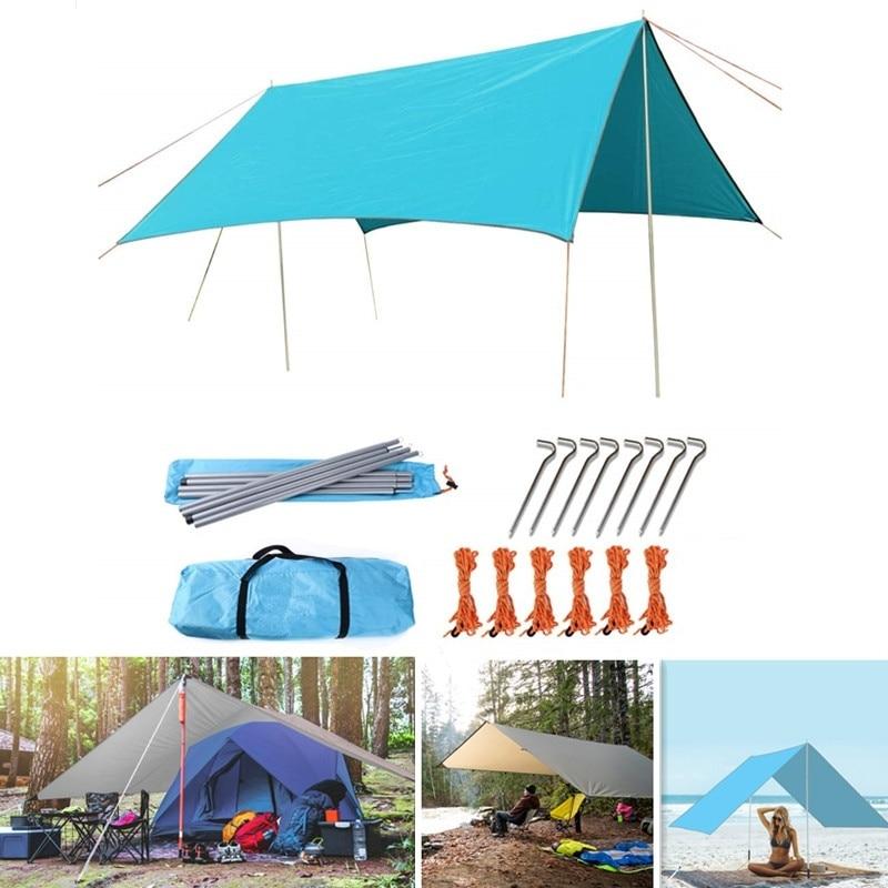 Outdoor Sun Shelter Tarp Waterproof Tent Shade Yard Garden Camping Sun Shade Sail UV Protection