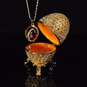 Image 3 - QIFU מתכת זהב פסחא פברז ה ביצת מלאכות תכשיט תיבת בית תפאורה