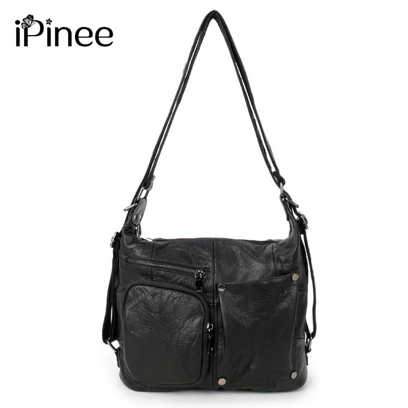 iPinee Fashion Patchwork Genuine Leather Handbag Women Bags High Quality Lady Shoulder Messenger Bag Free Shipping 2015 lady s fashion new arrival women s handbag 100% leather shoulder bags retro messenger bags free shipping