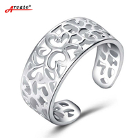 925 Sterling Silver Ringen Toe Rings Femme Fashion Simple Retro Hollow Out Love Ring For Women