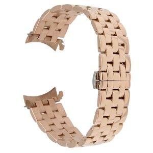 Image 5 - 18mm 20mm 22mm 24mm Rvs Horloge Band Gebogen Einde Strap voor Frederique Constante Horlogeband Vlinder gesp Armband