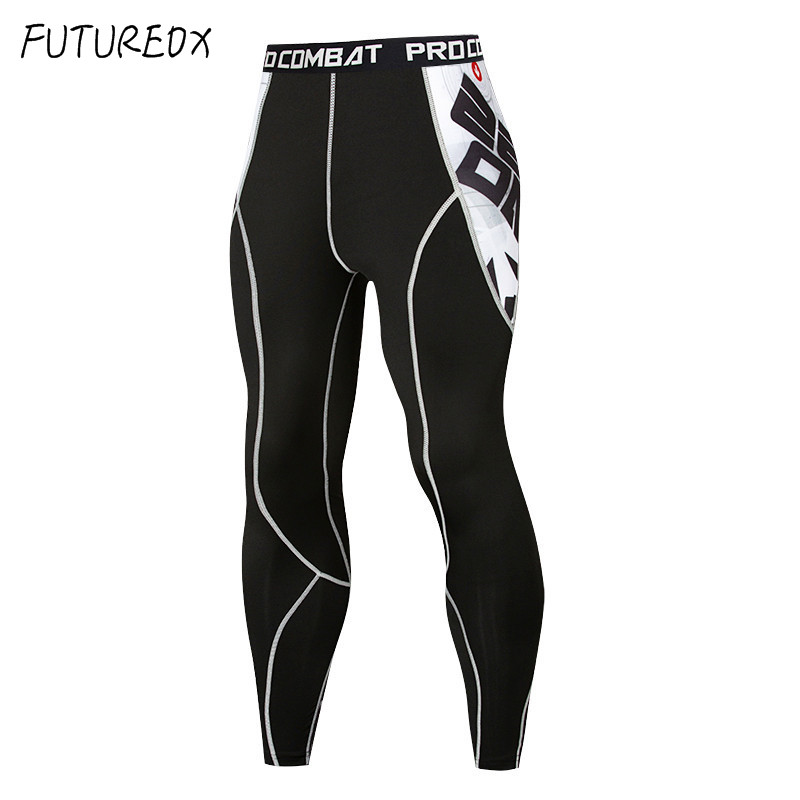 Compression Tight Leggings Pants Trousers Fitness-Training Sports Men's New Print Quick-Drying