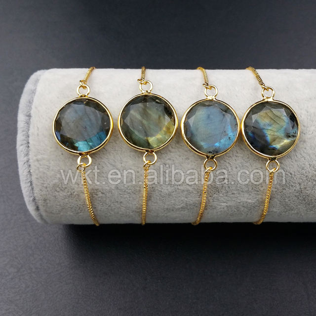 Wt B343 Whole Natural High Quality Labradorite Bracelet Unique Circular Carving Stone 16mm