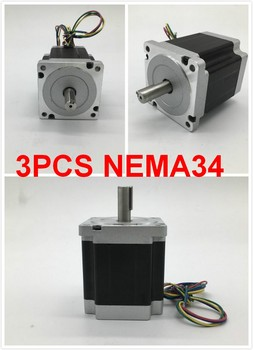 3PCS Stepper Motor Nema34 86*66mm 4A 3Nm 430Oz-in 2ph 4 Wires High Torque for CNC Router Lathe