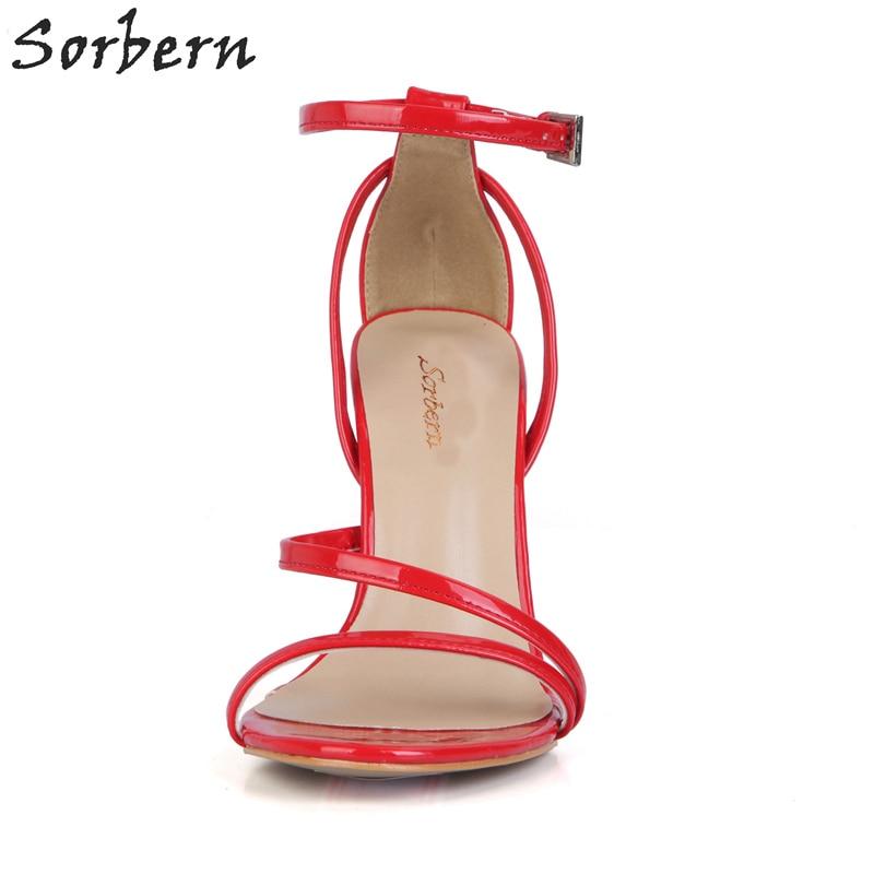 Stilettos Nouvelles 2018 Multi Pink Sandales Couleur bright Bout Rouge 10 D'été blanc Sorbern Cm bright Chaussures Femmes Ol orange Talons Ouvert Color Haute red Green Custom vxq1w7
