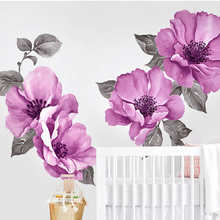 Watercolor painting wall sticker flower art decoration accessories wallpaper DIY