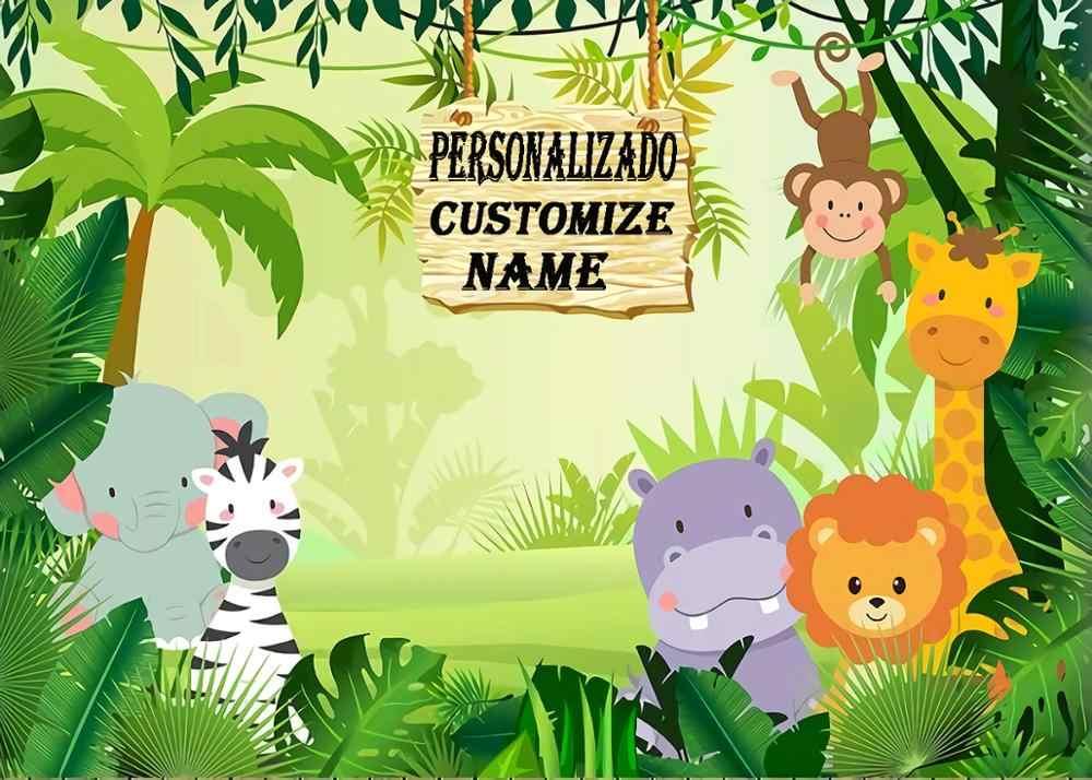 Capisco Jungle Safari Fotoğraf Arka Plan Hayvanlar Orman Fotoğraf Backdrop Bebek Mutlu Doğum Günü Partisi Tema Afiş Dekorasyon