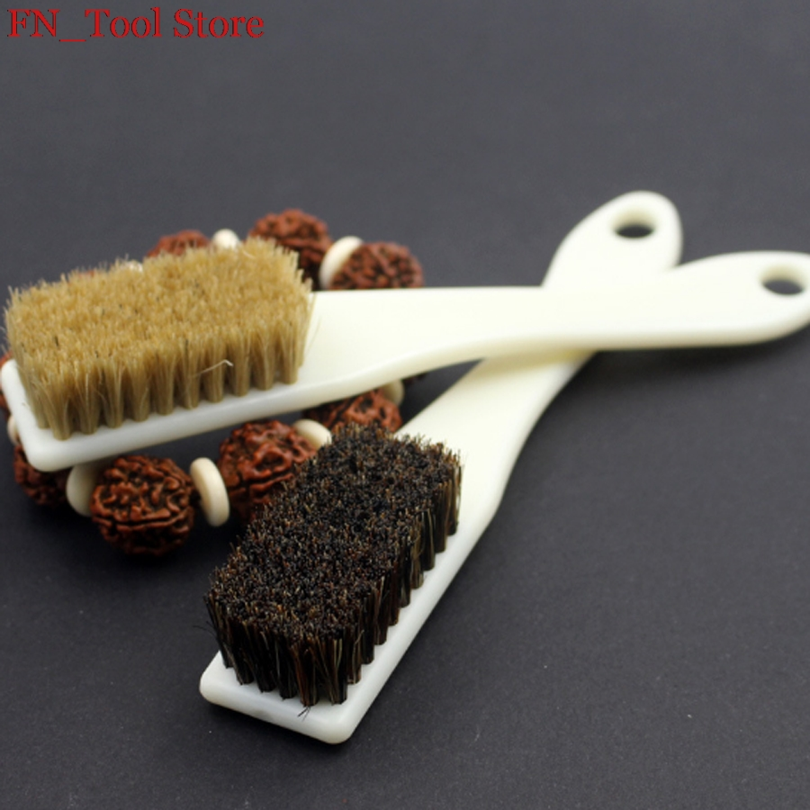 US $1 85 |1Pcs Six row hairbrush Collectables autograph tools for  maintenance cleaning walnut Bristle brush Polishing and oil Brush Tool-in  Brush from