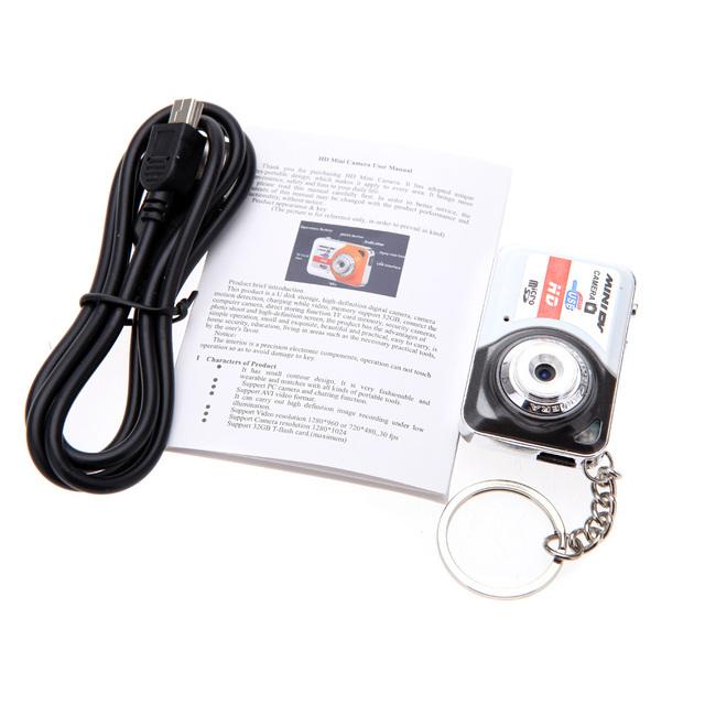 Portable X6 Digital Camera Ultra HD Mini Camera 32GB TF Card w/Mic Digital Video Camera PC DV Camcorder Shooting Recording