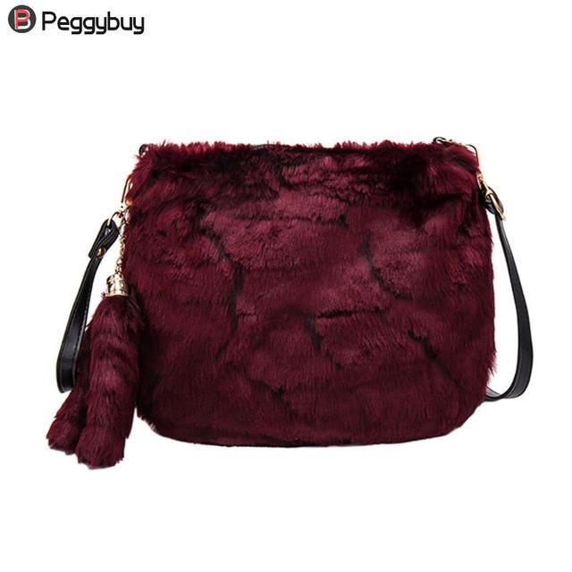 Для женщин искусственного меха небольшой лаконичный сумка модная одноцветное конверт сумка женская Повседневное сцепления Ретро Плечо Сумка Через Плечо