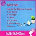 Compensar A Diferença De Sua Ordem Para Adicionar a Densidade Do Cabelo, o Comprimento do cabelo, Top de seda, Fechamento rendas E Cabelos Diferentes Cores