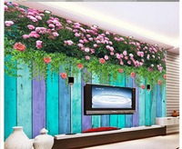 3d nature wallpapers window mural wallpaper 3D color wood flower backdrop mural Home Decoration