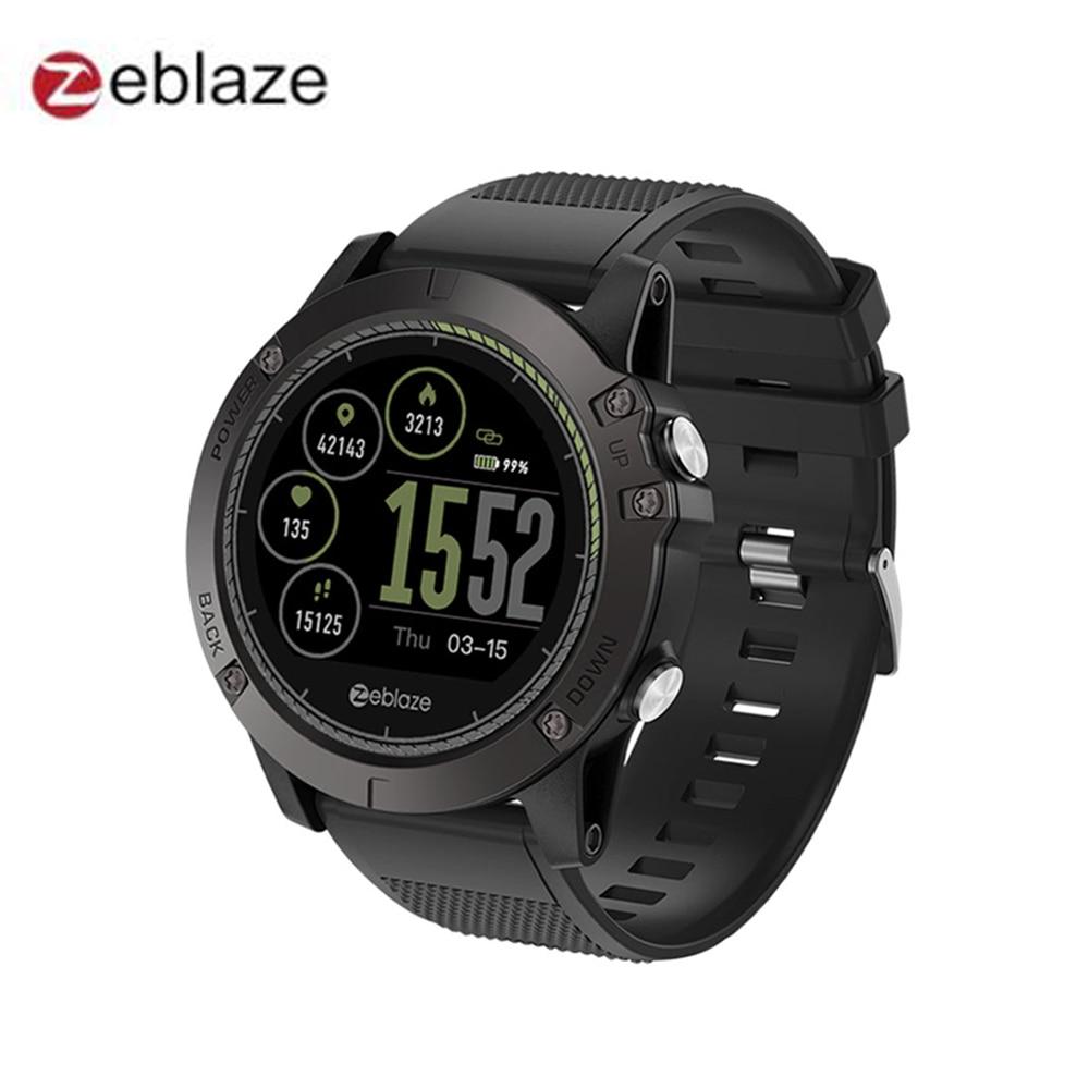 Новый Zeblaze Vibe 3 HR Smartwatch IP67 Водонепроницаемый Носимых устройств монитор сердечного ритма ips Цвет Дисплей Спорт Смарт часы