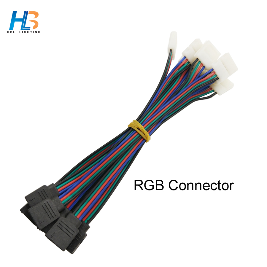 10PCS 20PCS 30PCS 10mm Width Panel RGB LED Strip Connector 4pin Free Welding Connector 40 PCS 50 PCS for 5050 Led Strip 10pcs 5 pin led strip wire connector for 12mm 5050 rgbw rgby ip20 non waterproof led strip to wire connection terminals