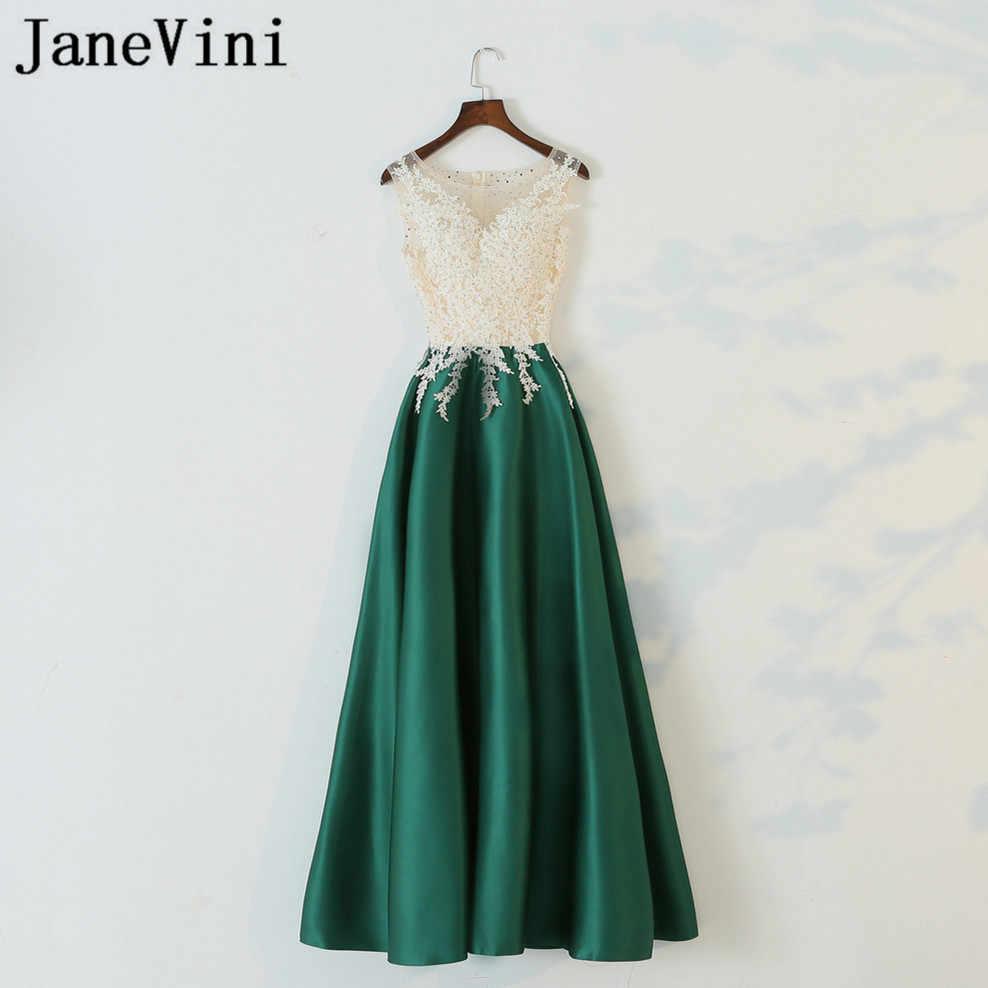 9255d49802e6b Detail Feedback Questions about JaneVini 2018 Elegant Green Satin ...