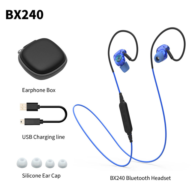 Plextone bx240 auriculares do bluetooth esportes fone de ouvido sem fio de alta fidelidade fone de ouvido estéreo de fone de ouvido à prova d' água airpods para iphone 7 plus