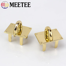 Meetee 2/4pcs 30mm Golden Bag Clasp Buckle Metal Women  Luggage O Ring Hardware Crafts Pendant Base Decor Accessories AP613