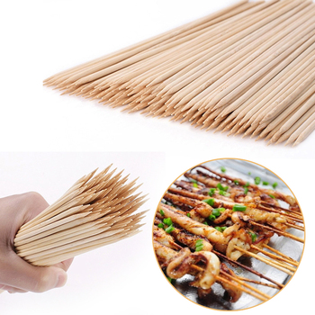 55/90 Pcs Bamboo Skewers Wooden Barbecue Wood Sticks