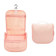Women Hanging Striped Cosmetic Bag Travel Makeup Cases Organizer Beauty Toiletry Storage Pouch Accessories Supplies Products