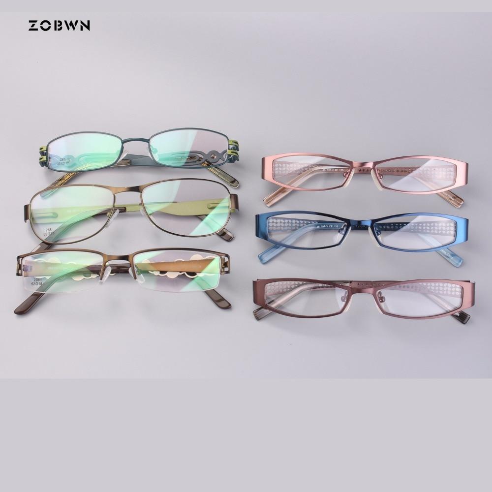 Kleine Frauen Mode Großhandel Metall Lesebrille Schild Gläser Für Optische Rahmen Brillen Myopie CFfqwTH