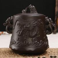 High Quality Chinese Purple Clay Teapot Pu Er Kung Fu Tea Storage Tea Jar 15 16cm