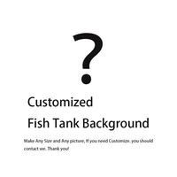 Customize Any Length Fish Aquatic Pet Decorations Ornaments Aquarium Background Backdrop Fish Tank Board Aquarium Landscape