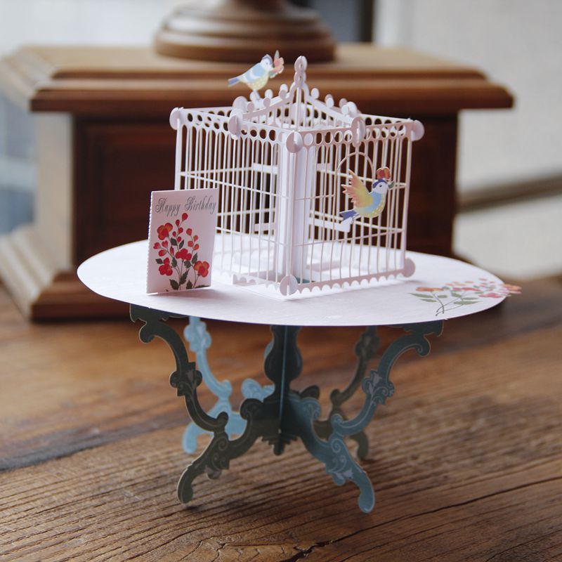 10pcs laser cut 3d birdcage and table handmade personalized greeting 10pcs laser cut 3d birdcage and table handmade personalized greeting cards creative with on aliexpress alibaba group m4hsunfo