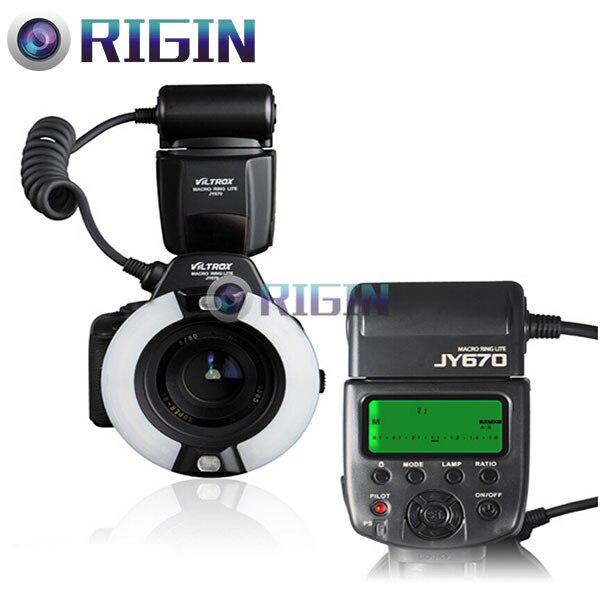 VILTROX JY-670 Macro Anneau circulaire Lumière flash Speedlite GN14 avec LCD + adaptateur anneau 49/52/55/58/62/67mm Pour tout appareil photo REFLEX NUMÉRIQUE