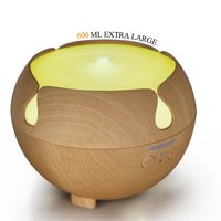 Aromacare 600mL Essential Oil Diffuser Mini Air Humidifier Wood Grian With Beautiful Design Colorful Changing Lamp