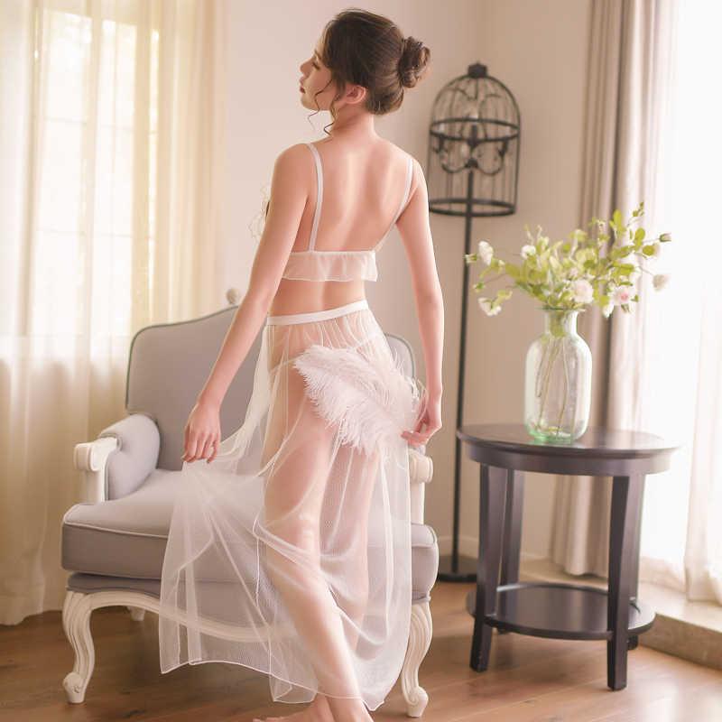 Sexy Roupa Interior Das Mulheres Conjunto de Lingerie Set Black & White & Pink Ruffles Guarnição Bonito Conjuntos Exóticos AD0471