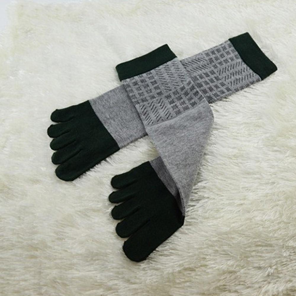 4Pair High Quality Brand Mens Socks Male Colorful In Tube Cotton Toe Socks Men Casual Five Finger Socks For Men Dress Socks