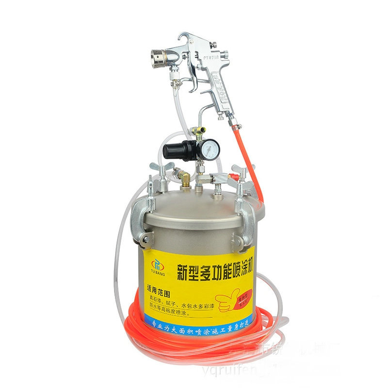 10L paint tank with high pressure spray gun paint tank with regulator only for you