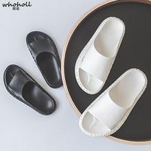 купить WHOHOLL Men Slippers Summer Flat 2019 Summer Women Sandals Shoes Breathable Beach Slippers Flip Flops Men Slides Lovers Slippers по цене 716.06 рублей